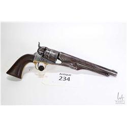 Antique handgun Colt model 1860 Army, .44 Percussion six shot single action revolver, w/ bbl length