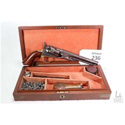 Antique handgun Colt model 1862 Pocket, .36 Percussion five shot single action revolver, w/ bbl leng