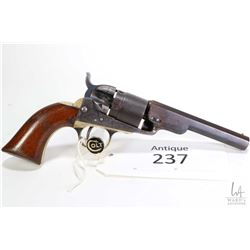 Antique handgun Colt model 1862 Pocket Navy Convert, .38 Rim fire five shot single action revolver,