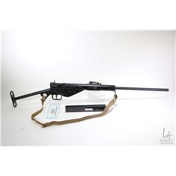 "Non-Restricted rifle SaskSten model Sten MK 2, 9mm five shot semi automatic, w/ bbl length 18 3/4"" ["