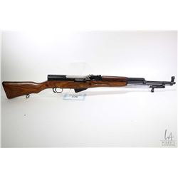 "Non-Restricted rifle Russian model SKS, 7.62x39mm five shot semi automatic, w/ bbl length 20"" [Blued"