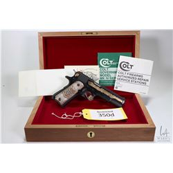 Restricted handgun Colt model Gov't Mark IV Series 70 A, .45 Auto seven shot semi automatic, w/ bbl
