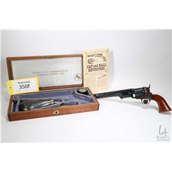 Restricted handgun Colt model 1851 Navy Gen. 2 Robert E, .36 Percussion six shot single action revol