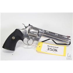 Restricted handgun Colt model Python Silver Snake Limit, .357 Mag. six shot double action revolver,