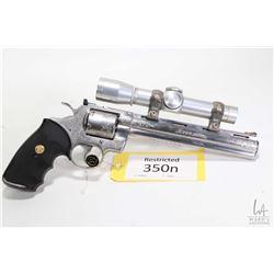 Restricted handgun Colt model Stalker (Dated 1988), .357 Mag six shot double action revolver, w/ bbl