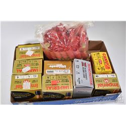 """Selection of shotgun ammunition including three 25 count boxes of Imperial 12 gauge 2 3/4"""" size 7 1/"""