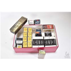 Large selection of .22 ammunition including three 325 count boxes of Federal, eight 50 count boxes o