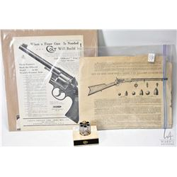 Selection of gun related ephemera including Colt Pricelist advertisement, a American Rifleman Colt h