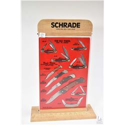 """Schrade """" The Old-Timer, knives like Grandads'"""" collection of knives in store display"""