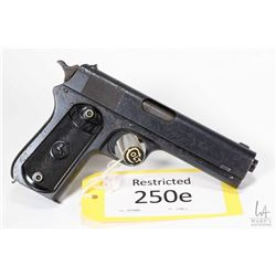 Restricted handgun Colt model 1902 Military (dated 1918, 38 Auto eight shot semi automatic, w/ bbl l