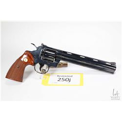 Restricted handgun Colt model Python (Dated 1981), 357 Mag six shot double action revolver, w/ bbl l