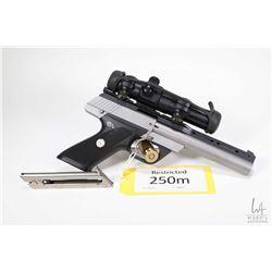 Restricted handgun Colt model Colt 22 Match Target (Dat, 22LR ten shot semi automatic, w/ bbl length