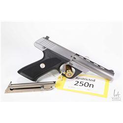 Restricted handgun Colt model Colt 22 (Dated 1996), 22LR ten shot semi automatic, w/ bbl length 114m