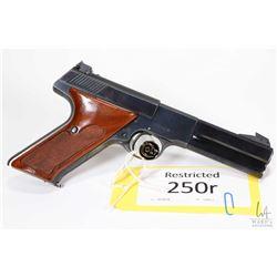 Restricted handgun Colt model Woodsman Match Target, 22LR ten shot semi automatic, w/ bbl length 114