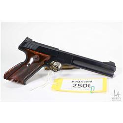 Restricted handgun Colt model Match Target (1949), 22LR ten shot semi automatic, w/ bbl length 152mm