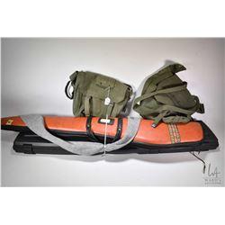 Redhead rifle hard case, a Black Sheep soft rifle case and a Sack-ups rifle sock plus two military p