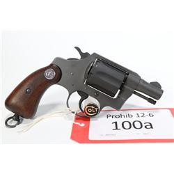 Prohib 12-6 handgun Colt model RHKP Detective Special, .38 S&W six shot double action revolver, w/ b