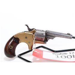 Prohib 12-6 handgun Colt model 1871 Open Top Pocket, .22 RF seven shot single action revolver, w/ bb