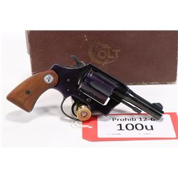 Prohib 12-6 handgun Colt model Courier (Dated 1955), .32 S&W Long six shot double action revolver, w