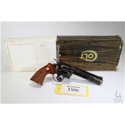 Restricted handgun Colt model Python (Dated 1982), .357 Mag six shot double action revolver, w/ bbl