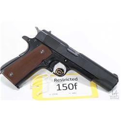 Restricted handgun Colt model M 1911 US Army, .45 ACP seven shot semi automatic, w/ bbl length 127mm
