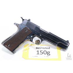 Restricted handgun Colt model ACE (1936), .22 LR ten shot semi automatic, w/ bbl length 120mm [Blued