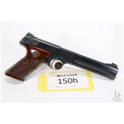 Restricted handgun Colt model Woodsman Match Target 2nd, .22 LR ten shot semi automatic, w/ bbl leng