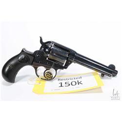 Restricted handgun Colt model 1877 Lightning, .38 cal six shot double action revolver, w/ bbl length