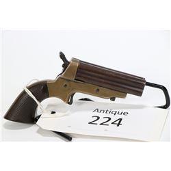 Antique handgun C. Sharps model 1859 2A, .30 RF four shot single action, w/ bbl length 76mm [Blued b