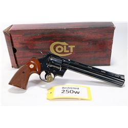Restricted handgun Colt model Python (Dated 1981), .357 Mag six shot double action revolver, w/ bbl
