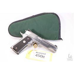 Restricted handgun Colt model Gold Cup Trophy, .45 Auto seven shot semi automatic, w/ bbl length 127