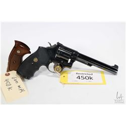 Restricted handgun Smith & Wesson model 14-2, .38 S&W six shot double action revolver, w/ bbl length