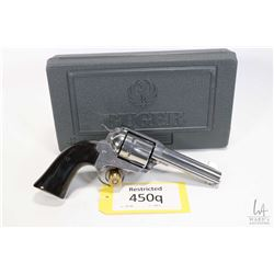 Restricted handgun Ruger model Vaquero, .45 Colt six shot single action revolver, w/ bbl length 117m
