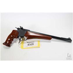 Restricted handgun Thompson Center Arms model Contender Super 14, .35 Rem single Shot hinge break, w