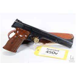 Restricted handgun Smith & Wesson model 41, .22 LR ten shot semi automatic, w/ bbl length 177mm [Blu