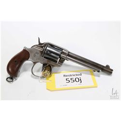 Restricted handgun Colt model 1878 Double Action Alaska, .45 Colt six shot double action revolver, w