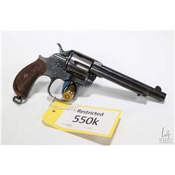 Restricted handgun Colt model 1878 Double Action Philip, .45 Colt six shot double action revolver, w