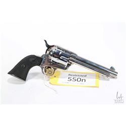 Restricted handgun Colt model 1873 Single Action Army, .44 Spcl six shot single action, w/ bbl lengt