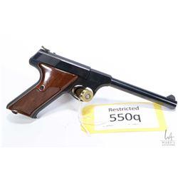 Restricted handgun Colt model Targetsman, .22 LR ten shot semi automatic, w/ bbl length 152mm [Blued
