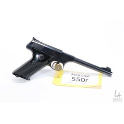 Restricted handgun Colt model Woodsman Target, .22 LR ten shot semi automatic, w/ bbl length 152mm [