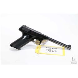 Restricted handgun Colt model Huntsman, .22 LR ten shot semi automatic, w/ bbl length 152mm [Blued f