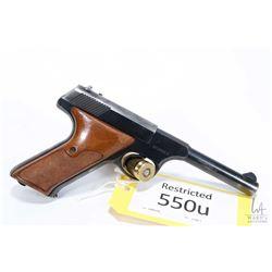 Restricted handgun Colt model Huntsman, .22 LR ten shot semi automatic, w/ bbl length 114mm [Blued f