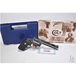 Restricted handgun Colt model Python (Dated 1992), .357 Mag six shot double action revolver, w/ bbl