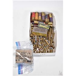 Selection of vintage ammunition including unopened Martini-Henry Rifle Rolled Case 1891 Mark III, tw