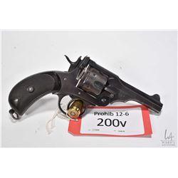 Prohib 12-6 handgun Webley model Mark IV Service, .455 Rev six shot hinge break revolver, w/ bbl len