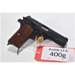 Prohib 12-6 handgun FEG model 37M, .380 Auto seven shot semi automatic, w/ bbl length 98mm [Blued fi
