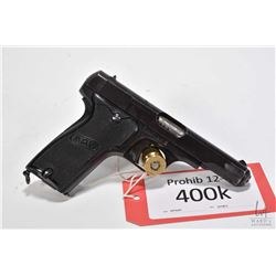 Prohib 12-6 handgun MAB model D, 7.65mm nine shot semi automatic, w/ bbl length 102mm [Blued finish,