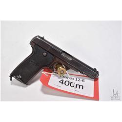 Prohib 12-6 handgun MAB model D, 7.65mm nine shot semi automatic, w/ bbl length 102mm [Blued finish
