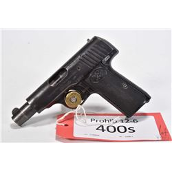 Prohib 12-6 handgun Walther model 4, 7.65mm eight shot semi automatic, w/ bbl length 88mm [Blued fin