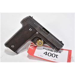 Prohib 12-6 handgun Gabilondo model Ruby, 7.65mm eight shot semi automatic, w/ bbl length 78mm [Blue